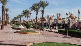 Sharm el-Sheikh, Egypt - November 30, 2016: shopping and entertainment complex in Sharm El Sheikh, Egypt stock video