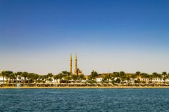 Sharm El Sheikh, Egypt. Scenic view of the city trom the bay royalty free stock image