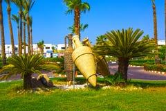 Sharm El Sheikh, Egypt - September 27, 2017: The Amphoras and Area at Hotel Otium Resort Sharm El Sheikh. Sharm El Sheikh, Egypt - September 27, 2017: The main stock images