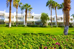 Sharm El Sheikh, Egypt - September 26, 2017: Buildings and Area Hotel Monter Carlo Resort Sharm El Sheikh. Sharm El Sheikh, Egypt - September 26, 2017: Buildings royalty free stock images