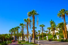 Sharm El Sheikh, Egypt - September 26, 2017: Buildings and Area Hotel Monter Carlo Resort Sharm El Sheikh. Sharm El Sheikh, Egypt - September 26, 2017: Buildings Royalty Free Stock Photography