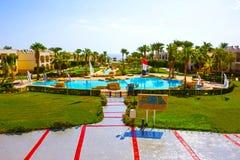 Sharm El Sheikh, Egypt - September 27, 2017: Buildings and Area Hotel at Otium Hotel Amphoras Sharm 5 at Sharm El Sheikh. Sharm El Sheikh, Egypt - September 27 royalty free stock photos