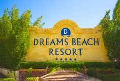 Sharm El Sheikh, Egypt - September 23, 2017: The of luxury hotel Dreams Beach Resort Sharm 5 stars at day with blue sky. Sharm El Sheikh, Egypt - September 23 Stock Photos