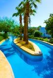 Sharm El Sheikh, Egypt - September 26, 2017: Buildings and Area Hotel Monter Carlo Resort Sharm El Sheikh. Sharm El Sheikh, Egypt - September 26, 2017: The pool royalty free stock photo