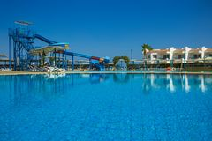 Sharm El Sheikh, Egypt - September 24, 2017: The view of luxury hotel Dreams Beach Resort Sharm 5 stars at day with blue Stock Photo