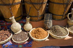 Sharm el Sheikh Egypt spices on market Stock Image