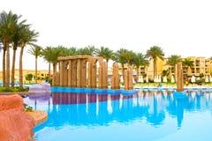 Sharm el Sheikh, Egypte - April 13, 2017: Het luxe vijfsterrenhotel RIXOS SEAGATE SHARM Stock Afbeeldingen