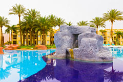 Sharm el Sheikh, Egypte - April 13, 2017: Het luxe vijfsterrenhotel RIXOS SEAGATE SHARM Royalty-vrije Stock Afbeelding