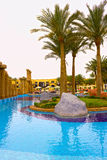 Sharm el Sheikh, Egypte - April 13, 2017: Het luxe vijfsterrenhotel RIXOS SEAGATE SHARM Stock Afbeelding