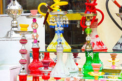 Sharm el Sheikh, Egypte - 13 avril 2017 : Le narguilé à la boutique de cadeaux Image libre de droits