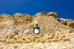 Sharm el Sheikh, Egypte - September 24, 2017: De mening van luxehotel droomt de Strandtoevlucht Sharm 5 bij dag met blauw meespee Royalty-vrije Stock Foto