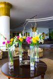 Sharm el Sheikh, Egypte - 26 septembre 2017 : Le lobbi chez Monter Carlo Sharm Resort et STATION THERMALE photographie stock libre de droits