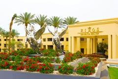 Sharm el Sheikh Egypten - April 13, 2017: Det lyxiga hotellet RIXOS SEAGATE SHARM för fem stjärna Arkivfoton
