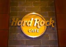 Sharm el Sheikh Egypten - April 13, 2017: Ingång till Sharm Hard Rock Cafe i Egypten Arkivbild