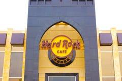 Sharm el Sheikh Egypten - April 13, 2017: Ingång till Sharm Hard Rock Cafe i Egypten Royaltyfri Fotografi