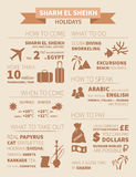 Sharm el Sheikh infographic Stock Photography