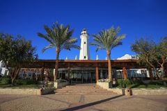Sharm el Sheikh resort. Lighthouse in Sharm el Sheikh resort Stock Image
