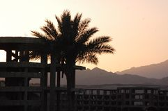 Sharm el sheikh sunset view stock image