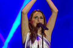 Sharon den Adel (Within Temptation). Within Temptation on Masters of Rock 2012 Stock Image