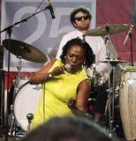 Sharon Jones u. die Dap Könige an SXSW lizenzfreies stockfoto