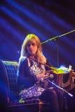 Sharon Shannon och musikband royaltyfri foto