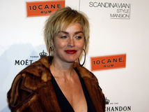 Sharon Stone. 12/1/2007 - Bel Air - Sharon Stone attends the Scandinavian Style Mansion held at the Private Residence in Bel Air, California, United States Royalty Free Stock Image