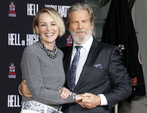 Sharon Stone and Jeff Bridges Stock Photo