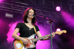 Sharon Van Etten band performs at San Miguel Primavera Sound Festival Royalty Free Stock Images