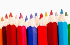 Sharp av den färgrika crayonen för chidren Royaltyfria Foton
