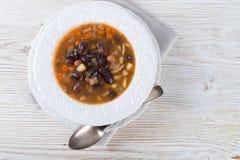 Sharp bean soup Stock Photos
