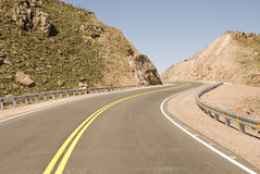 Sharp Bends and Mountains Stock Photography