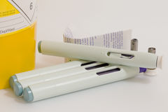 Sharp Bin and Injection Pens royalty free stock images
