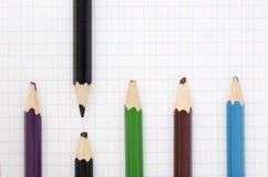 Sharp black pencil Stock Photos