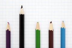 Sharp black pencil royalty free stock photo