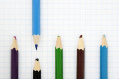 Sharp blue pencil Royalty Free Stock Photography
