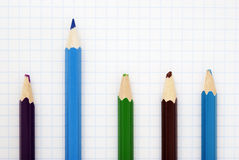 Sharp blue pencil Stock Images