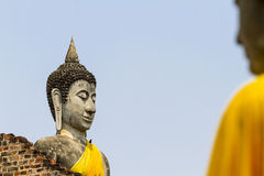 Sharp and blur buddha Royalty Free Stock Images