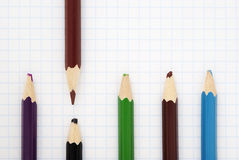 Sharp  brown pencil Royalty Free Stock Images