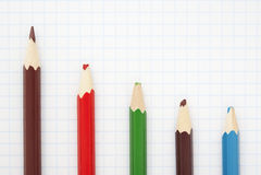 Sharp brown pencil Stock Photo