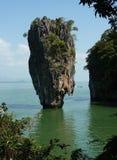 Sharp cliff from the James Bond movie. Cliff near Phuket island Phanga in Thailand Royalty Free Stock Image
