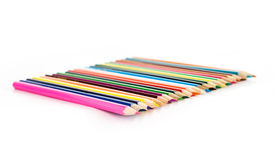 Sharp colored pencils Royalty Free Stock Photos