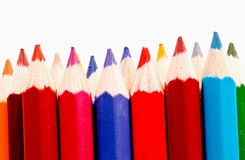 Sharp  of colorful crayon for chidren Royalty Free Stock Photos