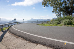 Sharp curve in the mountains. Of Gran Canaria royalty free stock image