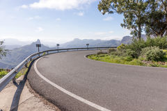 Sharp curve in the mountains. Of Gran Canaria royalty free stock images