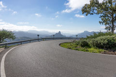 Sharp curve in the mountains. Of Gran Canaria stock image
