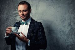 Sharp dressed fashionist Royalty Free Stock Images