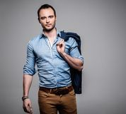 Sharp dressed fashionist Stock Images