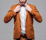 Sharp dressed fashionist wearing jacket Stock Image