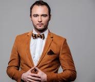 Sharp dressed fashionist wearing jacket Stock Images