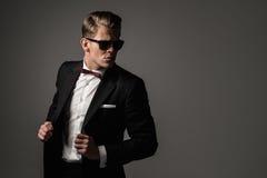 Sharp dressed fashionist wearing jacket Royalty Free Stock Photography